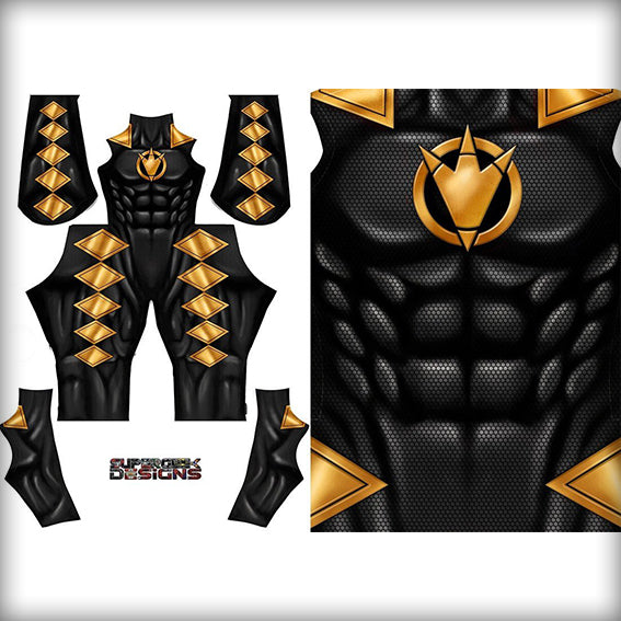 BLACK DINO RANGER - SupergeekDesigns