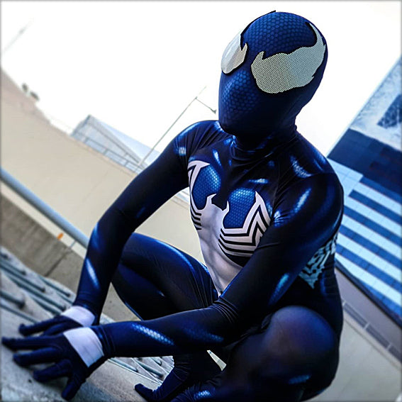 BLUE SYMBIOTE SPIDERMAN - SupergeekDesigns