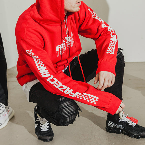 RED MOTION LOGO HOODIE