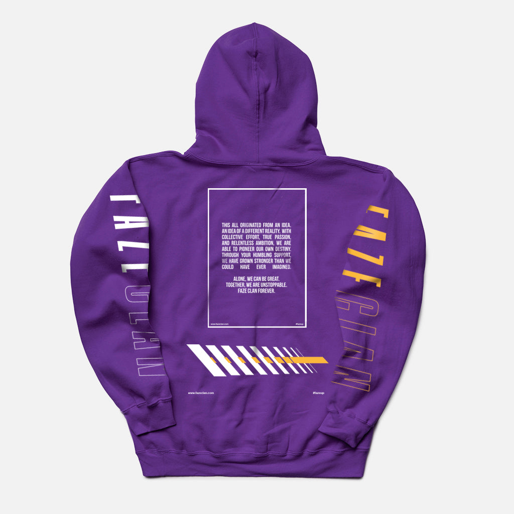 PURPLE FUTURE FAZE TEAM HOODIE