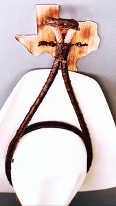 JM Ostrich Brown Edition Cowboy Hat Rack.