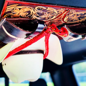 JM Ostrich Flame Red Edition Cowboy Hat Rack