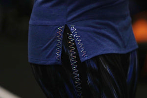 ASYMMETRICAL HOODIE (Silver Magnificent/Blue & Silver Intertwine)