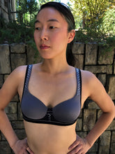Lily of France Sports Bra (Black & Silver Intertwine)