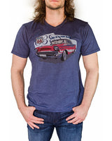 short sleeve tee with a 1957 corvette on front