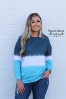 Shades of Blue Sweater