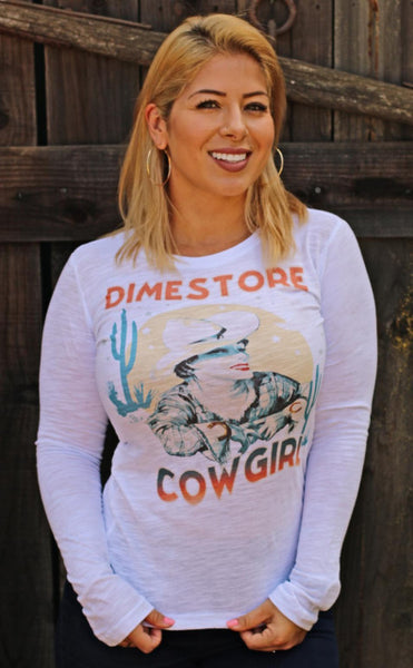 cowgirl on front of tee