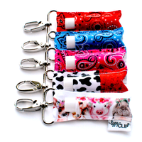 A Collection of five LippyClips in a variety of farm and Western themes.