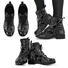 Womens Leather Boots - Plaid, Fall Floral, Skull, - OMG I Really Want That