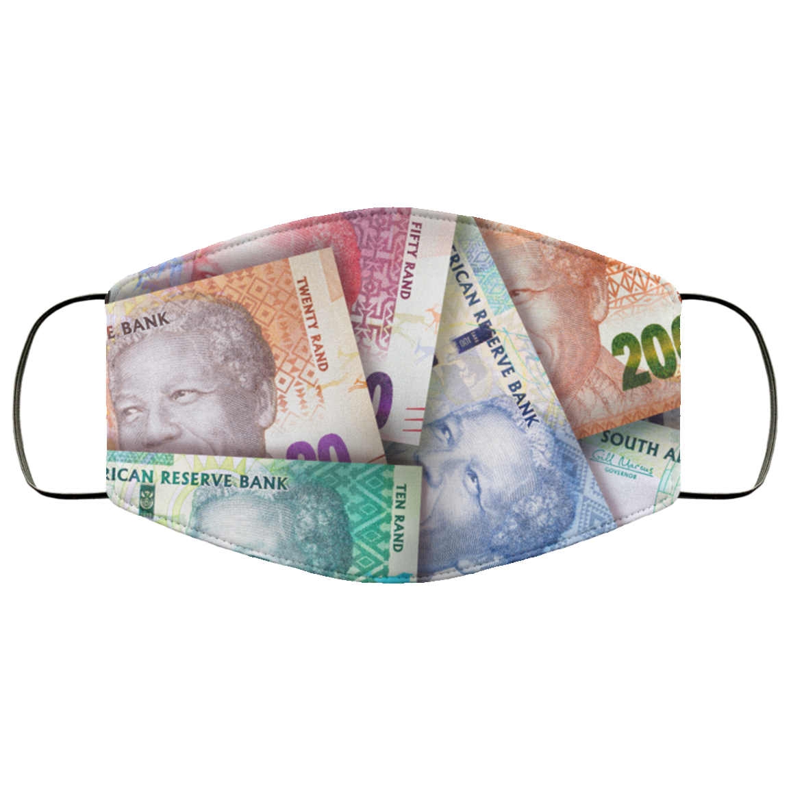 Mandela Money Face Mask - OMG I Really Want That
