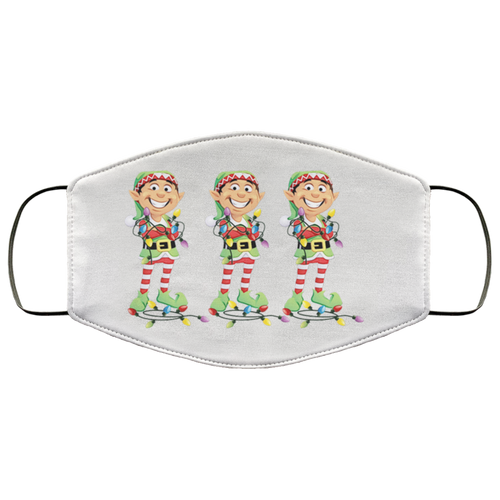 Elves & Lights Face Mask