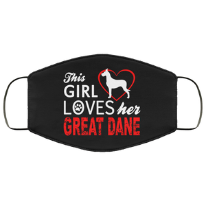 Great Dane  Face Mask