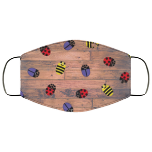 Beetles on Wood Face Mask