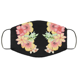 Pink Flowers Face Mask