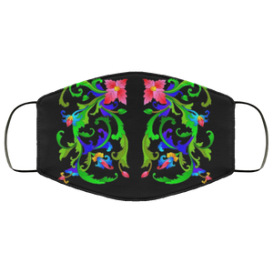 Mirrored Neon Vines Face Mask