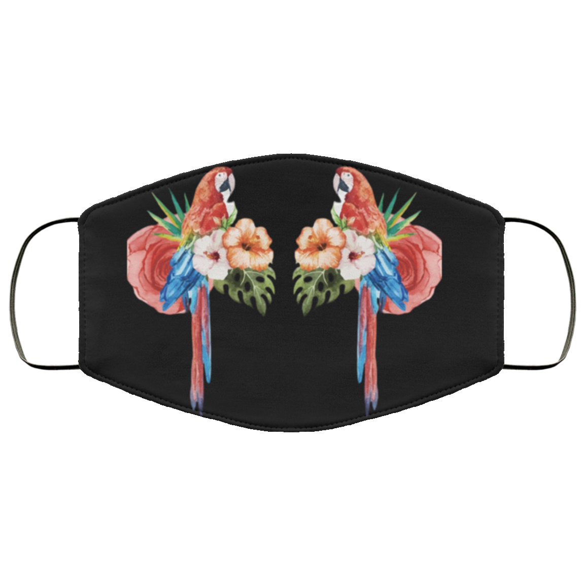 Pair of Parrots Face Mask