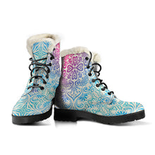 Bohemian Ombre (Sweet Corn) - Vegan Fur Leather Boots - OMG I Really Want That