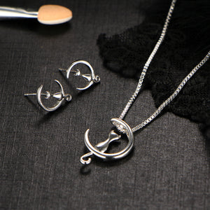 Cat Jewelry Sets w Necklace and Earrings - OMG I Really Want That