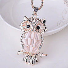 Women's Fashion Rhinestone Owl Pendant Necklace with Chain - OMG I Really Want That