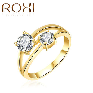 2017 Trendy Style Rings Double Cubic Zirconia  Gold Color Ring - OMG I Really Want That