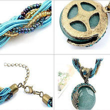 Bohemian Jewelry Necklace with Rhinestone Gem Pendant Collar - OMG I Really Want That
