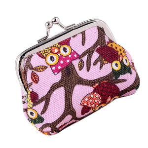 Women's Lovely Lady Owl Clasp Coin Purse - OMG I Really Want That