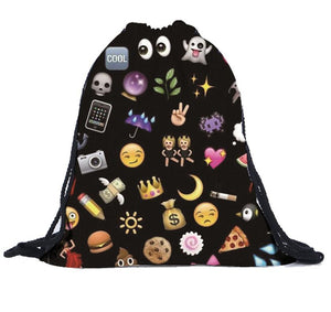 Womens Shoulder Bags with Emoji - OMG I Really Want That