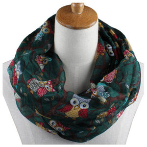 Ladies Fashion Owl Pattern Print Scarf or Shawl - OMG I Really Want That