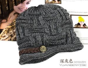 Fashion Women's Knitted Beanie Warm Casual Solid Hat Cap Winter Hats for Girls - OMG I Really Want That