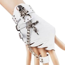 Punk Design Handmade Gothic Leather Pair Fingerless Glove - OMG I Really Want That