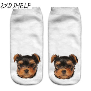 "New 3D""PUPPY HEAD""Print Socks Casual - OMG I Really Want That"