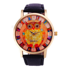 Owl Pattern Leather Band Analog Quartz Vogue Watch - OMG I Really Want That