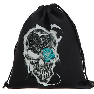 3D High Quality Drawstring Bags Halloween  - Candy  or Treat Bag - OMG I Really Want That