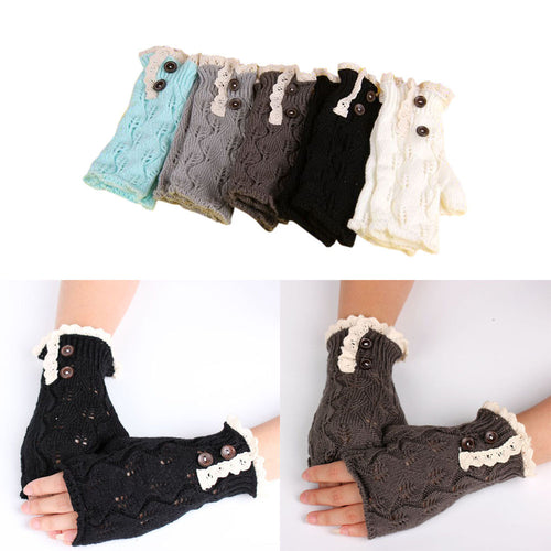 New Fashion Warm Lace Fingerless Gloves Knitted for Autumn&  Winter - OMG I Really Want That