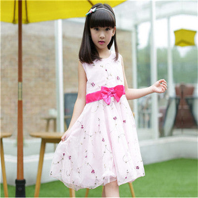 Embroidered Cute Flower Dress
