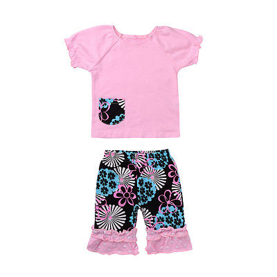 3 Pcs Kids Sister - Tops, Pants, and Headband Outfit