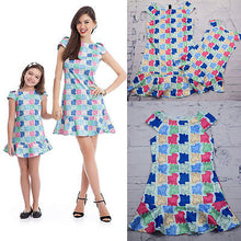 Fashion Family Mother Daughter Matching Girls Off Shoulder Dress Clothes Outfit