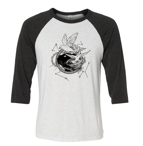 Tamora Pierce: Faithful & Dust Spinners Baseball Tee