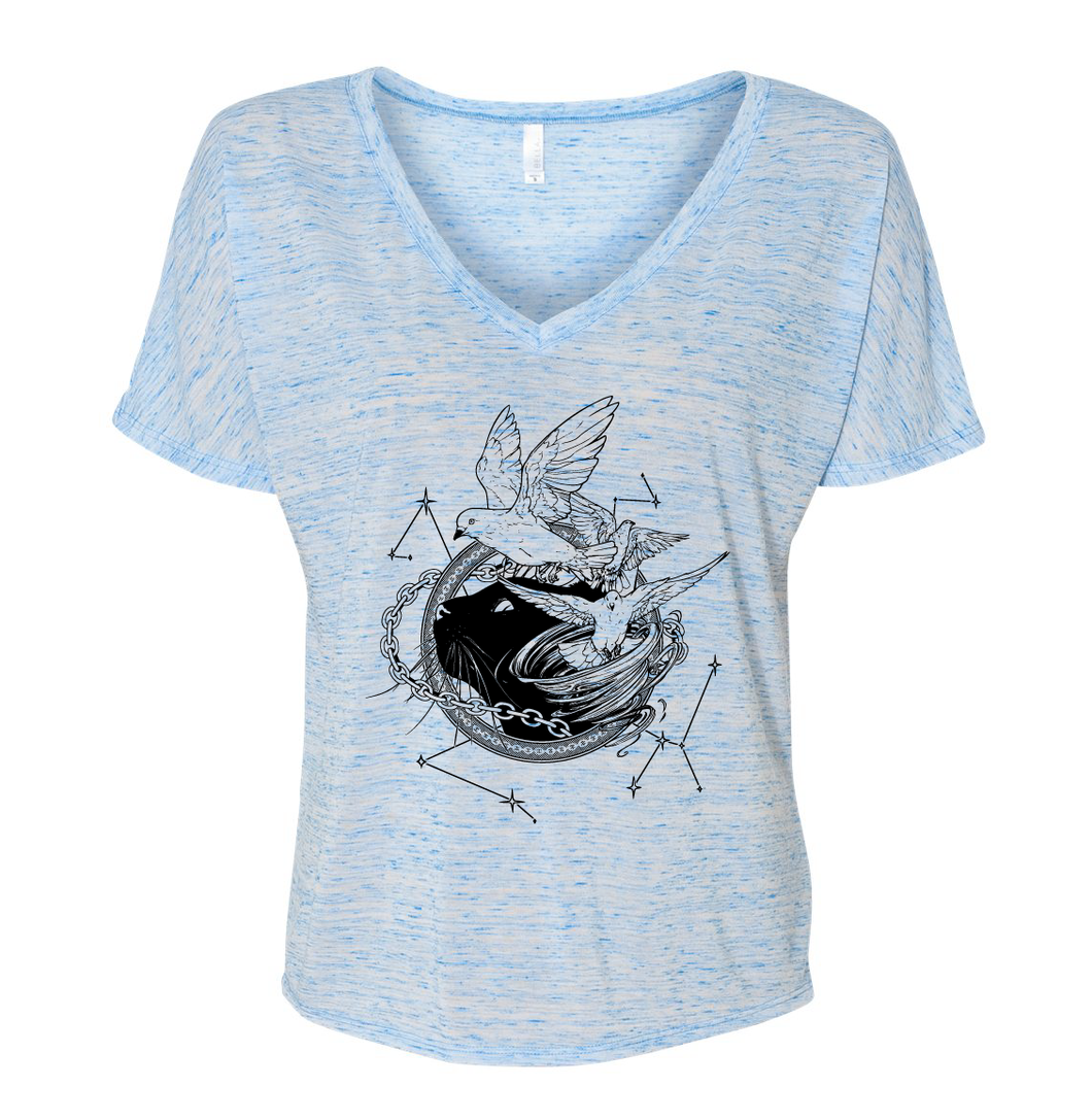 Tamora Pierce: Faithful & Dust Spinners Slouchy V-Neck