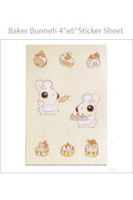Load image into Gallery viewer, Heather Sketcheroos: Baker Bunneh Sticker Sheet