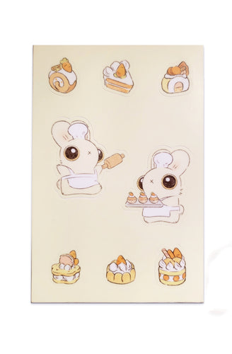 Heather Sketcheroos: Baker Bunneh Sticker Sheet