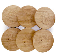 Load image into Gallery viewer, Heather Sketcheroos: Bunnerfly Coasters (Set of 6)