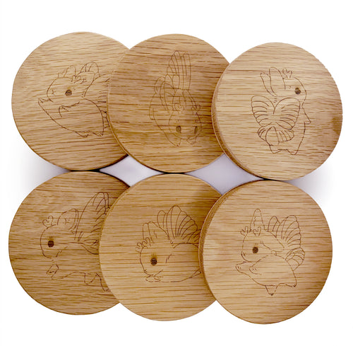 Heather Sketcheroos: Bunnerfly Coasters (Set of 6)