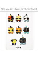 "Load image into Gallery viewer, Heather Sketcheroos: Kitteh Coven ""Meowanda's Class"" Sticker Sheet"