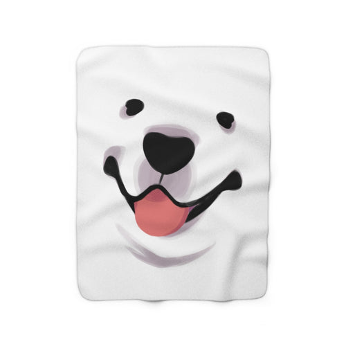 BFF GAME: Samoyed Face Blanket