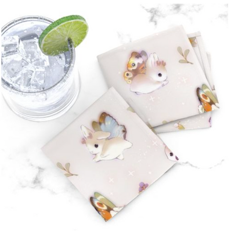 Heather Sketcheroos: Woodsy Jackalopes Cocktail Napkins