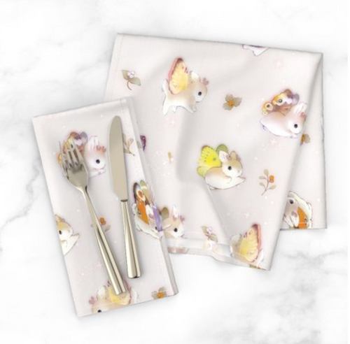 Heather Sketcheroos: Woodsy Jackalopes Table Napkins