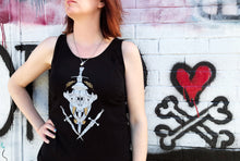 Load image into Gallery viewer, Gold Tiger Skull Tank (LIMITED EDITION)