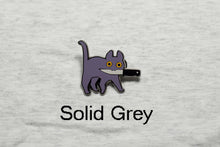 Load image into Gallery viewer, Knifecat Enamel Pin by MarlaDraw
