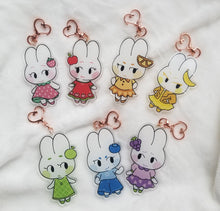 Load image into Gallery viewer, CRX | Fruit Bunny Acrylic Charms by Marie Lum